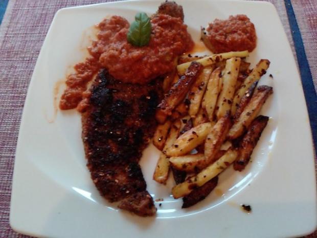 INFERNO-SCHNITZEL - oder - Zigeunerschnitzel für Scovillefans - Rezept