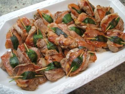 Fleisch: Schweinelende a´la Saltimbocca - Rezept