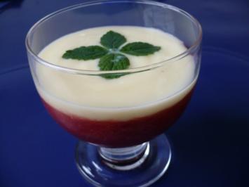 Rezept: Rhabarberkompott mit Holunderblütencreme