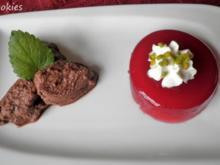 Himbeer - Wackelpudding und einfache Schokoladen Mousse ... - Rezept