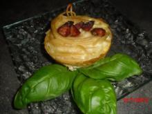 Muffin - Spaghetti Carbonara  ( Warum immer Löffel und Gabel nutzen? ) - Rezept