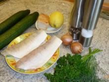 Fischfilet mit Gurken - Rezept