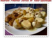Fisch: Pikanter Dorsch mit Käse-Specksoße - Rezept