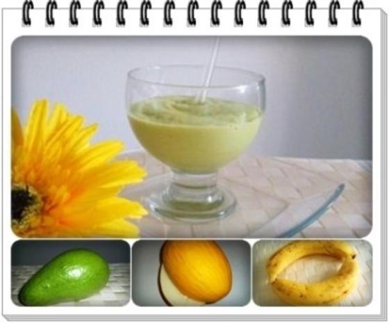 Avocado - Honigmelone - Banane Smoothie - Rezept - Bild Nr. 2