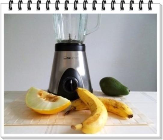 Avocado - Honigmelone - Banane Smoothie - Rezept - Bild Nr. 6