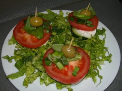 Tomate-Mozzarellatürmchen - Rezept