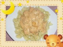 Pasta mit Lachswürfeln - Rezept