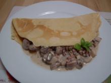 Pfannkuchen mit Champignonfüllung - Rezept