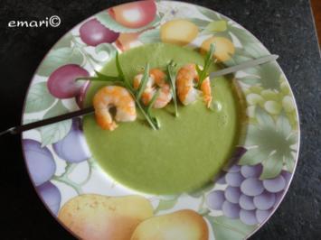 Rucola Süppchen mit Garnelen - Rezept
