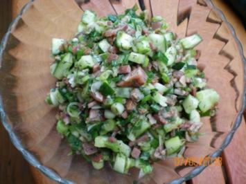 Salat: Gurken-Baconsalat - Rezept