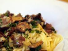 Spaghetti mit Rahmpfifferlingen - Rezept