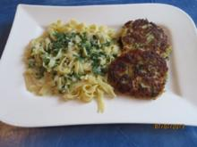 Kochen: Fischfrikadellen mit Tagliatelle und Petersiliensoße - Rezept