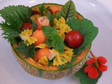 Melonen-Nudel-Salat - Rezept