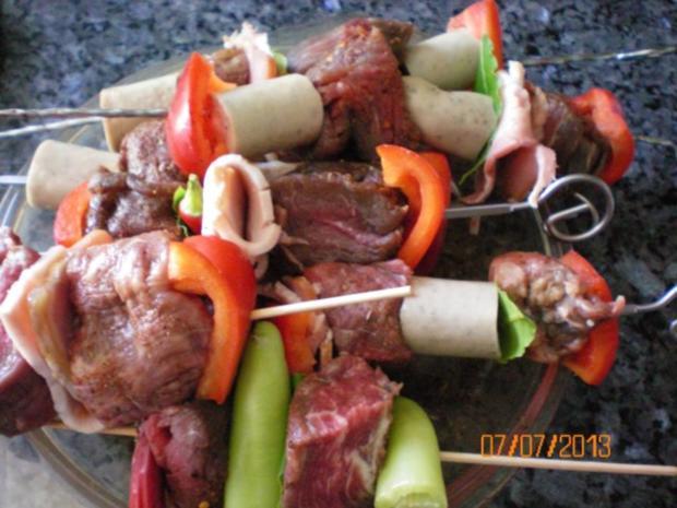 Rinderfiletspieße zum Grillen - Rezept