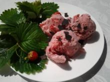 Erdbeer- Sahne- Eis - Rezept