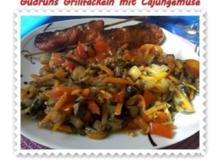 Fleisch: Grillfackeln mit Cajungemüse - Rezept
