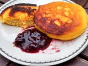 Mais Brot gebraten   /   Fried Corn Bread   /   Mais Mini Pancake - Rezept