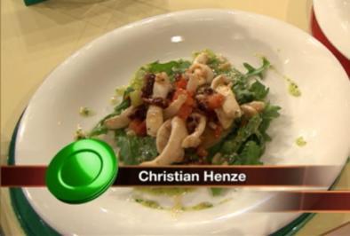 Warmer Salat vom kleinen Sepia mit Tomatillo a la Henze (Christian Henze) - Rezept