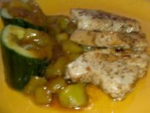 Putenschnitzel kreolisch mit Melonen-Gurken-Salsa - Rezept