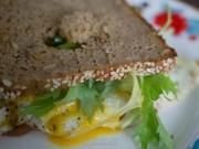 Getoastetes Eiersandwich auf Vollkornbrot - Rezept