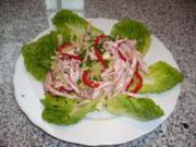 Putenwurstsalat mit Apfelessigvinaigrette - Rezept