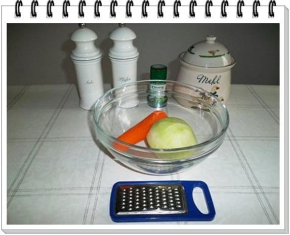 Kohlrabi-Möhre Puffer mit Baby Möhren und Kartoffelbällchen dazu - Rezept - Bild Nr. 5