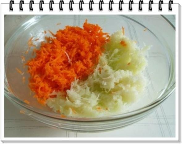 Kohlrabi-Möhre Puffer mit Baby Möhren und Kartoffelbällchen dazu - Rezept - Bild Nr. 7