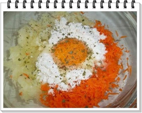 Kohlrabi-Möhre Puffer mit Baby Möhren und Kartoffelbällchen dazu - Rezept - Bild Nr. 10