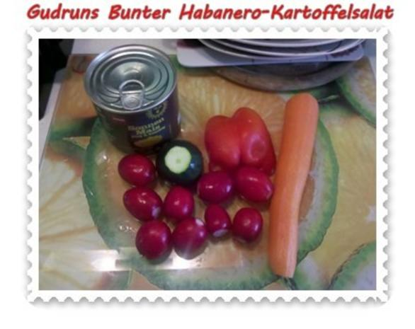 Salat: Bunter Habanero-Kartoffelsalat - Rezept - Bild Nr. 4