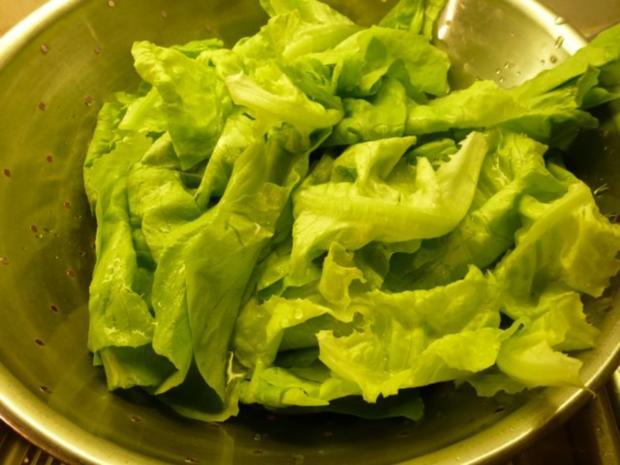 Leber, mariniert, paniert, gewokt und mit Salat - Rezept - Bild Nr. 7