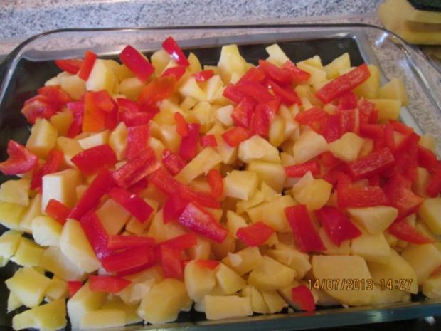 Kartoffelgratin mit Paprika und Chili - Rezept - Bild Nr. 5