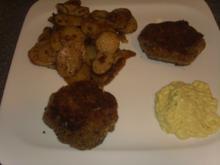 Fischfrikadellen mit Bratkartoffeln - Rezept