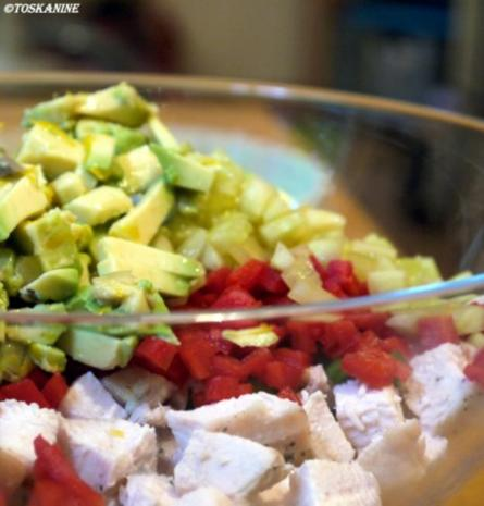 Reissalat mit Hühnchen und Avocado - Rezept - Bild Nr. 9