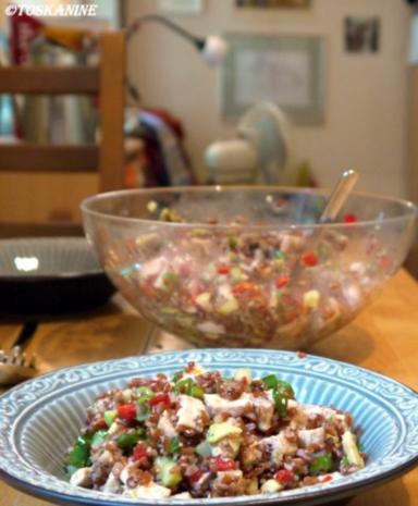Reissalat mit Hühnchen und Avocado - Rezept - Bild Nr. 11