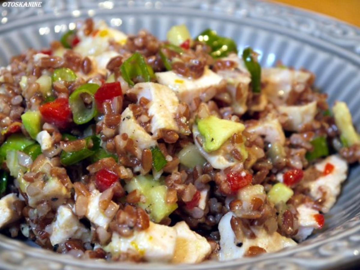 Bilder für Reissalat mit Hühnchen und Avocado - Rezept