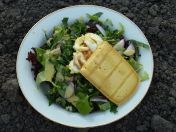 Von meinen Gästen selbst gepflückter Salat - Rezept