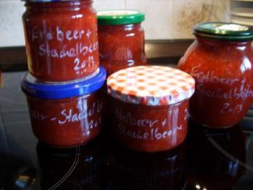 Konfitüre & Co: Erdbeere mit Stachebeere - Rezept