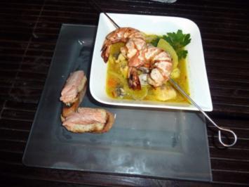 Fischsuppe mit Fenchel und Safran aus Köstlichkeiten der 7 Weltmeere - Rezept