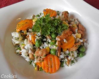 Hähnchen - Gemüse - Reis - Rezept