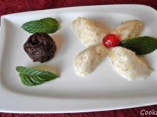 Bananen - Mousse und Schokoladen - Mini - Kuchen (ohne Mehl) - Rezept