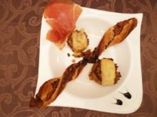 Champignons gefüllt mit Knoblauch, Weißwein, Sherry & Serrano Schinken mit Käse überbacken - Rezept