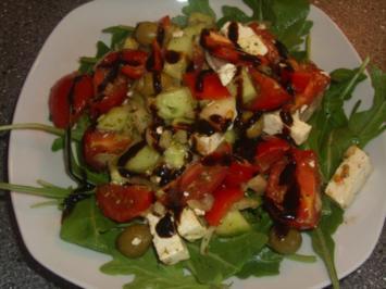 Gemischter Salat mit Rucola - Rezept