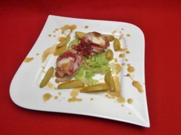 Rezept: Seeteufel im Speckmantel auf einem Wirsingbett an jungen Kartoffeln