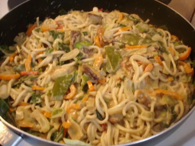 Chinesische Mie-Nudeln mit Pilz-Gemüsemischung - Rezept - Bild Nr. 11