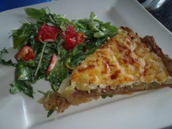 Rezept: Zwiebelkuchen mit Käse