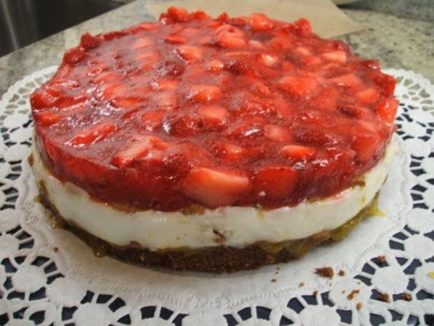 Backen: Vielfrucht-Torte ohne Backen - Rezept - Bild Nr. 11