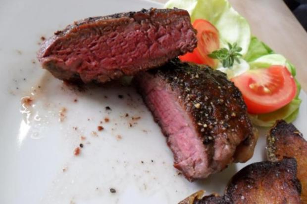 Fleischgerichte:Rinderfiletsteaks - Rezept