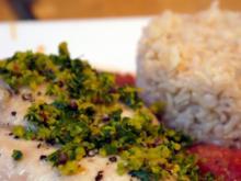 Hähnchenbrust, Tomatensauce, Orangen-Gremolata - Rezept
