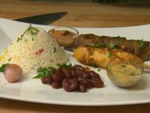 Pinchos criollos arroz con verduras Frijoles (Don Cali) - Rezept