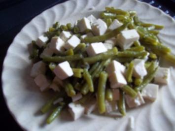 Hexenlady´s Bohnensalat mit Fetakäse - Rezept